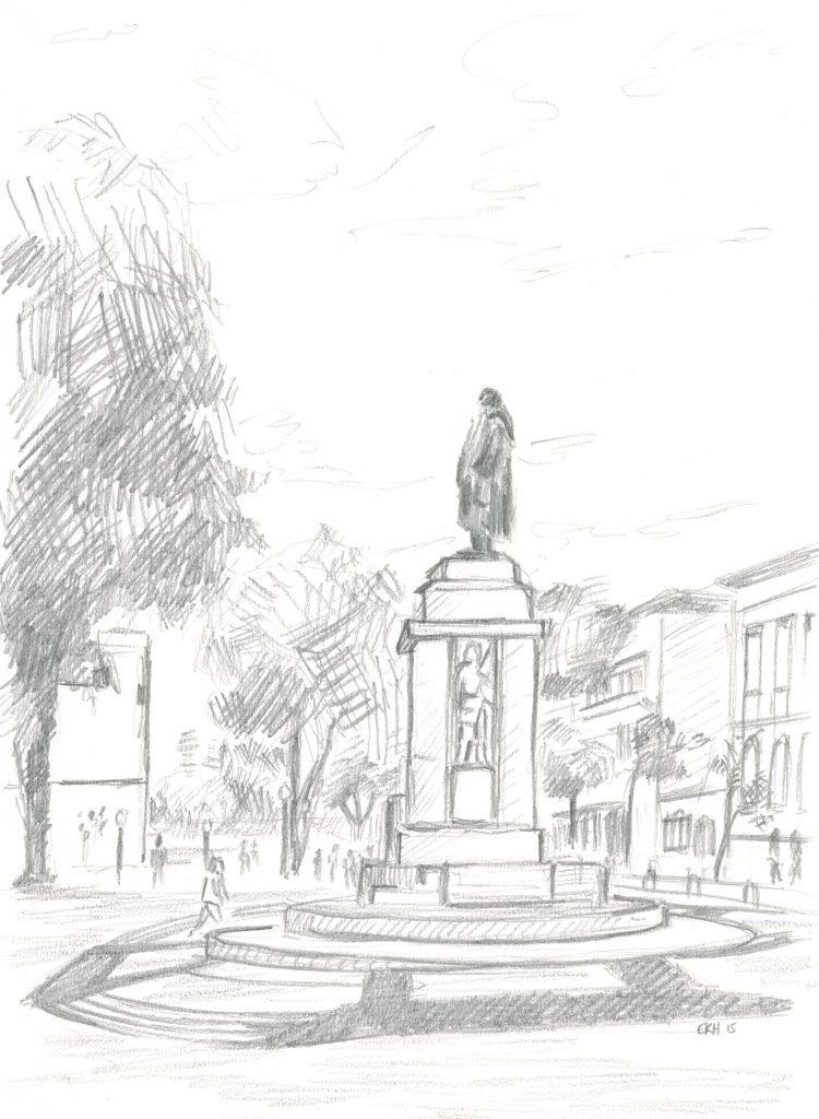 João Gonçalves Zarco Monument Sketch