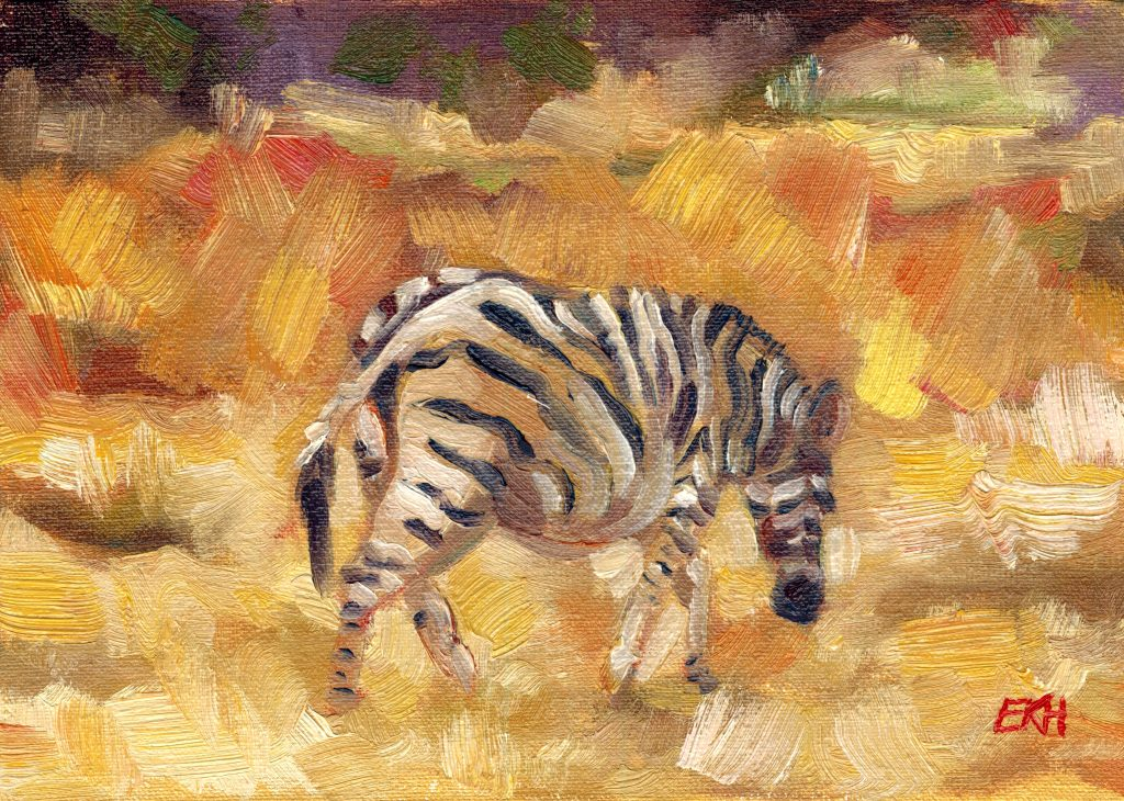 Zebra in the Bushveld - Giclee Print - Emma Kate Hulett