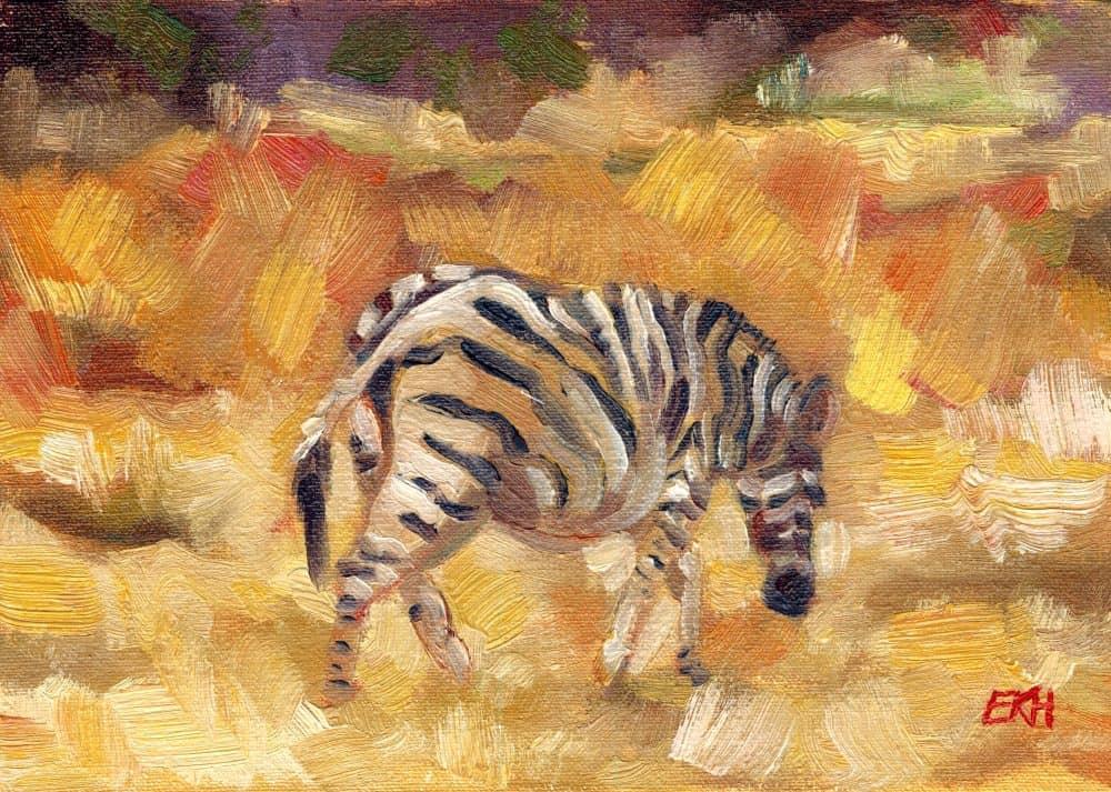 Zebra in the Bushveld - Giclee Print - Emma Kate Hulett